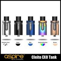 100% Original Aspirateur Cleito EXO Tank 2 / 3.5ml Atomise de contrôle du débit d'air supérieur pour 510 Thread Box Mod