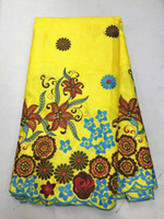 5 Yards pc Most popular yellow african Bazin lace with Niger...