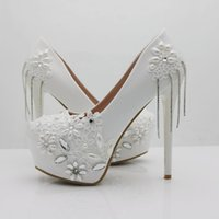 wedding shoes women pearls pumps for women elegant shoes par...