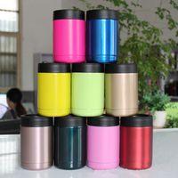 Les plus récents 12OZ tasses colorées 304 en acier inoxydable 10 couleurs 1: 1 refroidisseurs Rambler Tumbler voiture tasses voyage sports tasses