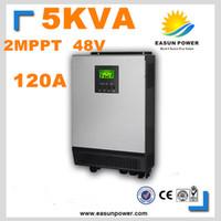 Горячее надувательство солнечного инвертора 5Kva 4000W солнечного инвертора 48V к инверторам 220V 120A двойному MPPT чистому инвертору 60A силы инвертора волны синуса