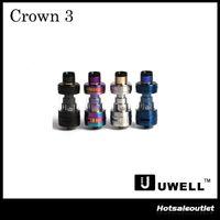Authentique Uwell Crown 3 Tank avec 5.0ml e-Juice Capacité avec le remplissage supérieur Large Clouds Crown III 100% Original