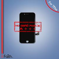 Pour l'iPhone 7 Plus Grade A +++ Écran noir d'affichage à cristaux liquides