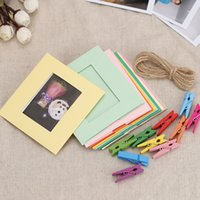 "5"" Photo Picture Wall Hang Frame Clip Clamp String Rope..."