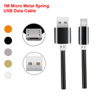 2017 New High Speed 1M 3Ft Metal Spring USB Charger Cables F...