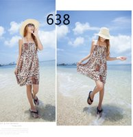 Free size Summer Women short dresses cute print flower femal...
