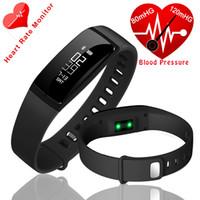 V07 bande intelligente Watch Bracelets de pression artérielle Bracelet Smart Bracelet cardiofréquencemètre Fitness Tracker Smartband Pour iOS Android xaomi
