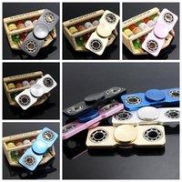 5 colores ultra fino Fidget Spinner Fidget Hand Spinner juguete de aluminio puntas de los dedos en espiral de los juguetes de alivio HandSpinner CCA5953 120pcs