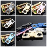 5 couleurs ultra minces Fidget Spinner Fidget Spinner à main Jouets en aluminium Poinçons en spirale Jouets de secours HandSpinner CCA5953 120pcs