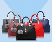 European and American style PU womens Single shoulder bag La...