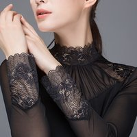 All- Match Long Sleeve Women' s Lace patchwork Undershirt...