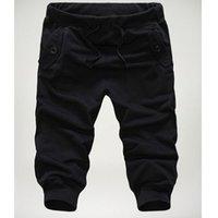 Оптовая Горячие продажи Тонкий Обрезанная Hip Hop Повседневная колготки Мужчины летние брюки Boardshorts Pantalones cortos Jogger Брюки Мужчина для