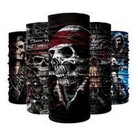 Mágico cachecol colar máscara absorvente máscaras ao ar livre headbands sem costura crânio cachecol masculino Bandanas C013