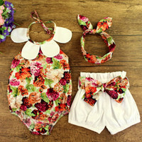 INS Summer baby girl toddler 3piece sets outfits Rose Floral...