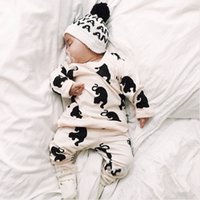 Baby Toddlers Cotton Print Clothing Sets Outfits Girls Boys ...