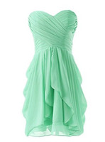 Chiffon Short Bridesmaid Dresses Prom Formal Party Gowns Dre...