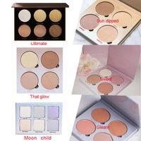 Maquillaje Kit Glow Blusher Powder Face Paleta cosmética que Glow Gleam Sun Dipped Sweets Niño de la Luna 5 colores