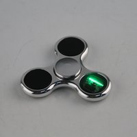 2017 Fidget Spinners LED Spinner Avec 11 led peut changer différents Pattern Luminous Light Letter Spinner à main Finger spinner Tri-fidget