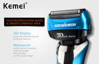 Kemei8150 4- Blade Cutting System LCD Display Electric Shaver...