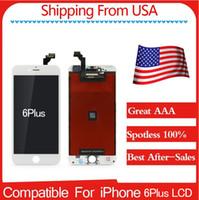 Livraison gratuite Écran LCD de première qualité A + (100% Spotless) pour iPhone 6Plus 5.5 Noir / Blanc Meilleur service après-vente