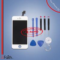 Ecran LCD tactile numériseur Assemblage complet pour blanc iPhone 5S pièces de rechange de réparation avec des outils