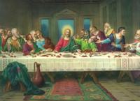 В рамке 100% Ручная роспись Знаменитая классическая портретная живопись Масляная картина Тайная вечеря, домашний декор на холсте Много размеров