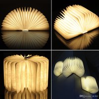 Wooden Folding LED Nightlight woody Booklight LED Folding Bo...