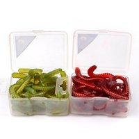 2box 30pcs 2- colors Fishing Lure Soft Baits 10cm 1g worms Si...