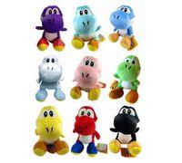 Super Mario Bros Yoshi Plush 15 centímetros macio pelúcia Anime Plush brinquedos Mario Bros dinossauro Stuffed Toy 9 design KKA1083