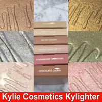 Kylie Kylie Highlighters Kylie Cosmetics Highlighter Glow Face Makeup 6 цветных бронзаторов Highlighters Соленая карамель французская ваниль DHL
