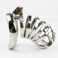 NEW Male Chastity Device 65mm Cock Cage With Arc- Shaped Cock...