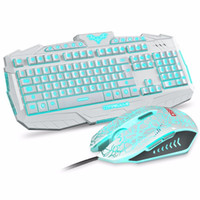 V600 Wired Gaming Keyboard Mouse Mombo 3 Colors Breathing Ba...