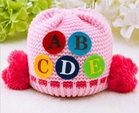 2016 new style ABCDE Double ball Knitted cap for children Ad...