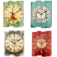 Wholesale Overvalue Retro Vintage Rustic Wall Clock Shabby Chic Home Office Coffeeshop Bar Decor Decoration Best Gift Craft 4 Stylish