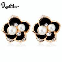 RAVIMOUR Women Stud Earrings Fashion Imitated Pearl Jewelry ...