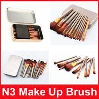 N3 Power Brush Макияж Кисти Профессиональные составляют Кисть Kit Косметические кисти Инструмент 12шт / Установить DHL