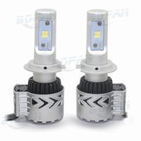 H7 led 12V 6000lm 72W 6000K White Car Headlight Lamp Bulb Ve...