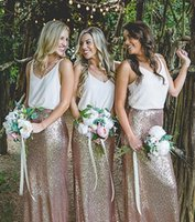 2017 Two Pieces Sequins Bridesmaid Dresses New Design Cheap ...