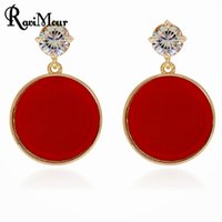 RAVIMOUR Earrings for Women Fashion Jewelry Orecchini Black ...