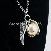 Hot Harry Potter Golden Snitch Retro Alloy Chain Necklace Pe...