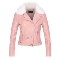 Mulheres de pêlo básico casaco de pelagem 2016 mulheres novas estilo europeu pu jaqueta de couro jaqueta de couro jaqueta de couro jaqueta destacável H01