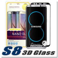 Pour S8 S8plus Iphone 7 S7 Edge S6 Edge Plus Iphone 6 3D Curved Screen Protector verre trempé Full Cover Verre courbé avec Retailbox