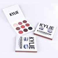 Kylie Jenner Ombre à paupières Kyshadow Poudre pressée Bronze Kit Ombre à paupières Palette Bronze Précommande Natural Brighten Maquillage maquillage 9 Couleurs MR024