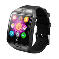 Q18 Montres intelligentes Bluetooth Smartwatch avec appareil photo Original q18 Support Tf SIM Slot pour carte Bluetooth NFC Connection pour téléphones Android