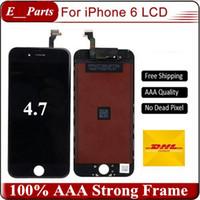 Pour iPhone 6 LCD (4,7 pouces) Grade AAA + écran LCD Touch Digitizer avec colle froide forte Remplacement complet de l'assemblage 10.2.1 IOS