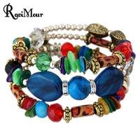 RAVIMOUR Natural Stone Bracelets for Women Bohemian Crystal ...