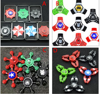 New Arrival Fidget Spinner Captain America HandSpinner The Avengers Finger Gyro Toys EDC pour la décompression Toy Anxiety Hand Spinner DHL