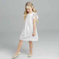 Everweekend Girls Fly Sleeve Lace Dress Ruffles Princess Top...