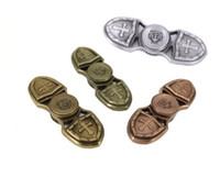 EDC Hand Spinner Crusade Fidget Spinner Toy Fingertips Spiral HandSpinner Gyro Toy Pour décompression Aluminium Alloy Metal