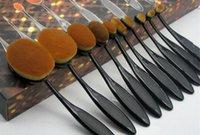 10 pcs nouvelle brosse à dents souple professionnelle douce brosse de maquillage pinceaux de fondation crème contour poudre blush brosse à lèvres correcteur DHL